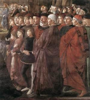 Domenico Ghirlandaio - Calling of the Apostles (detail 2) 1481