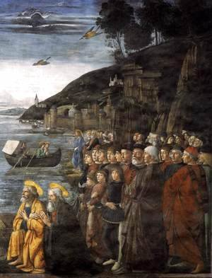 Domenico Ghirlandaio - Calling of the Apostles (detail 3) 1481