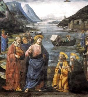 Domenico Ghirlandaio - Calling of the Apostles (detail 4) 1481