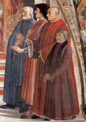 Domenico Ghirlandaio - Confirmation of the Rule (detail 3) 1482-85