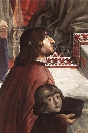 Domenico Ghirlandaio - Confirmation of the Rule (detail 4) 1482-85