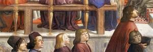 Domenico Ghirlandaio - Confirmation of the Rule (detail 5) 1482-85