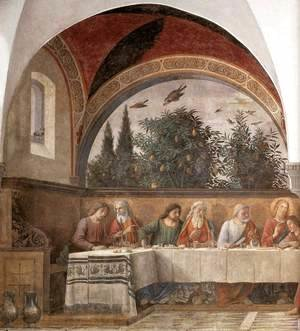 Domenico Ghirlandaio - Last Supper (detail 1) 1480