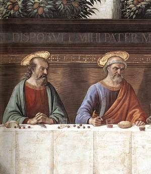 Domenico Ghirlandaio - Last Supper (detail 1) c. 1486