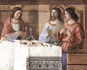 Domenico Ghirlandaio - Last Supper (detail 2) c. 1486