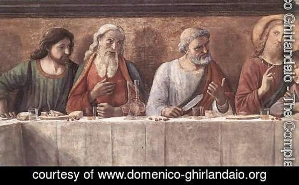 Domenico Ghirlandaio - Last Supper (detail 3) 1480