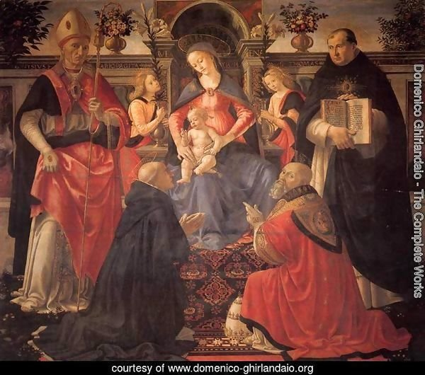 Madonna and Child Enthroned between Angels and Saints c. 1486
