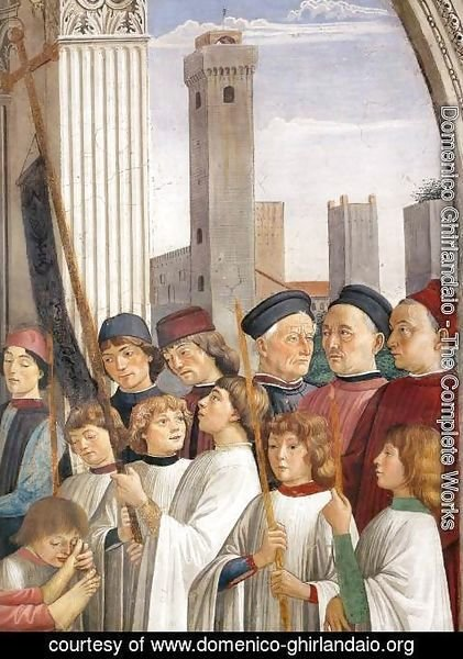 Domenico Ghirlandaio - Obsequies of St Fina (detail) 1473-75