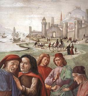 Domenico Ghirlandaio - Renunciation of Worldly Goods (detail 1 ) 1482-85