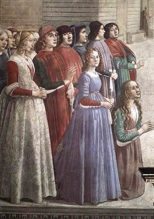 Domenico Ghirlandaio - Resurrection of the Boy (detail 3) 1482-85