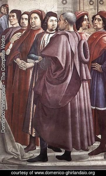 Domenico Ghirlandaio - Resurrection of the Boy (detail 4) 1482-85