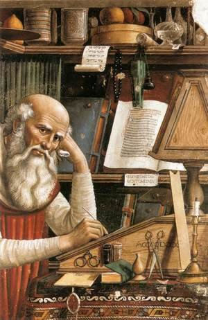 Domenico Ghirlandaio - St Jerome in his Study (detail) 1480