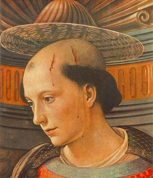 Domenico Ghirlandaio - St Stephen (detail) 1490-94
